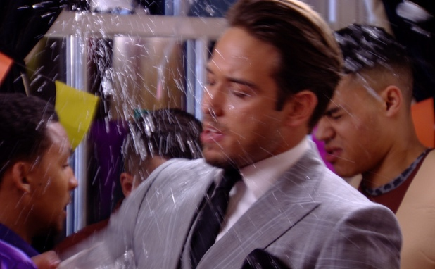TOWIE - James Lock gets a drink thrown in his face. Aired: 12 March 2014.