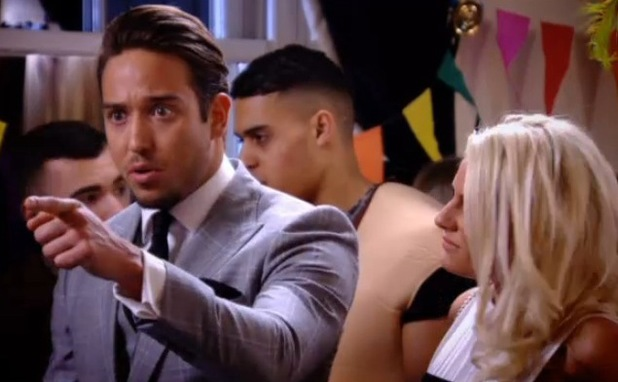 TOWIE's James Lock and Danielle Armstrong row with Gemma Collins and Bobby Norris - 12 mARCH 2014