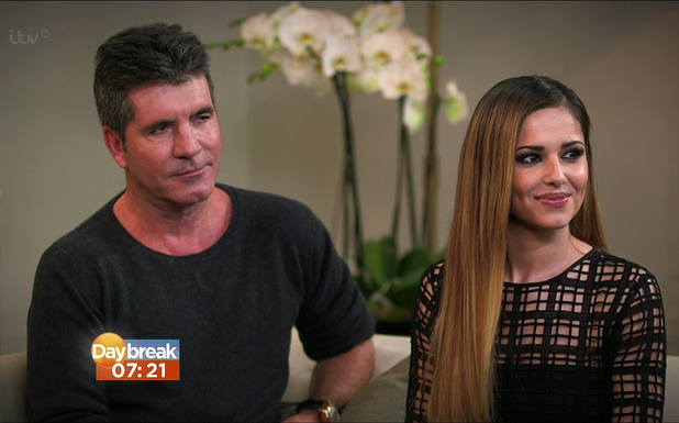 Dan Wootton interviews Simon Cowell and Cheryl Cole for 'Daybreak', The pair confirm Cheryl's return to 'The X Factor' UK. 12.3.2014