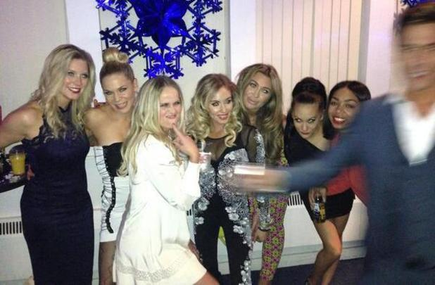 Lauren Goodger, Brianne Delcourt, Zaraah Abrahams at Dancing On Ice's wrap party (9 March 2014).