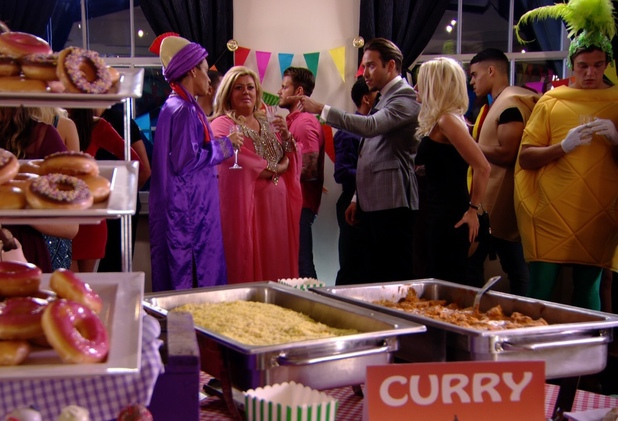 TOWIE: Bobby Norris and Gemma Collins argue with James Lock and Danielle Armstrong Aired: 13 March 2014.