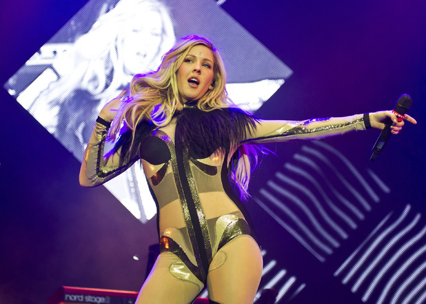 Ellie Goulding performing live in concert at the O2 Arena, London (9 March 2014).