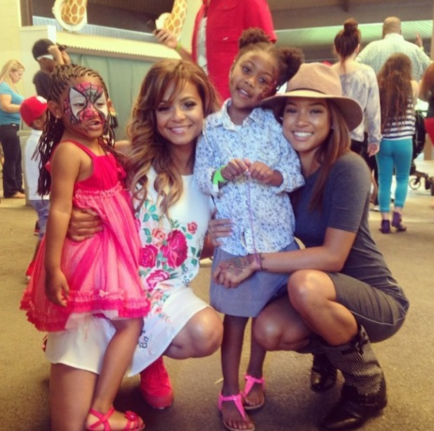 Christina Milian throws daughter Violet a birthday party - Karrueche attends - 9.3.2014