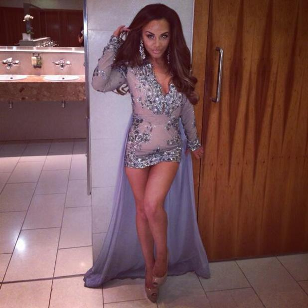 Chelsee Healey poses for picture in sequinned dress at Mirror Ball - 10 March 2014