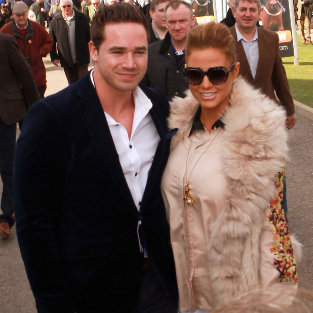 Katie Price, Cheltenham Festival day 1 arrivals, 11 March 2014