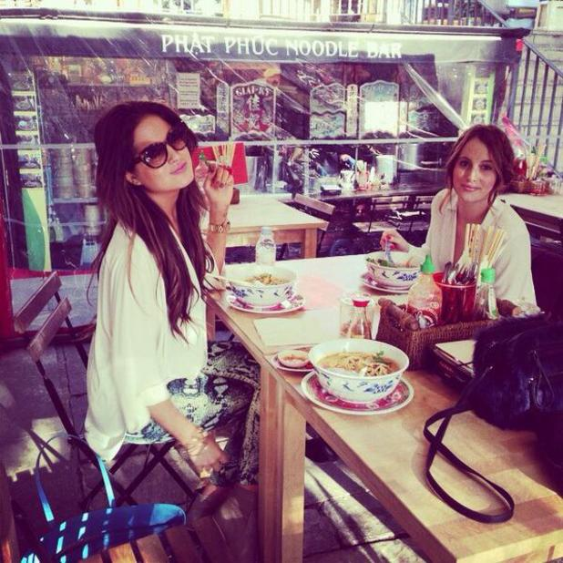 Louise Thompson and Binky Felstead do lunch - 13 March 2014
