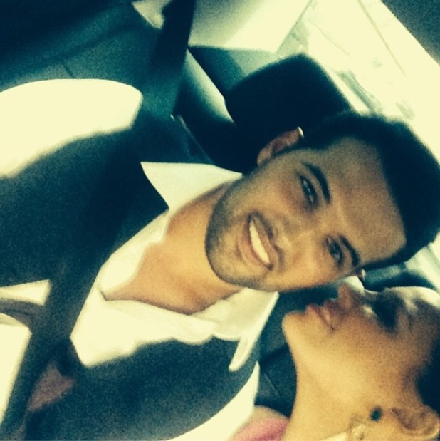 TOWIE's Ricky Rayment and Jessica Wright pose for a 'drunk selfie' at the TRIC Awards -