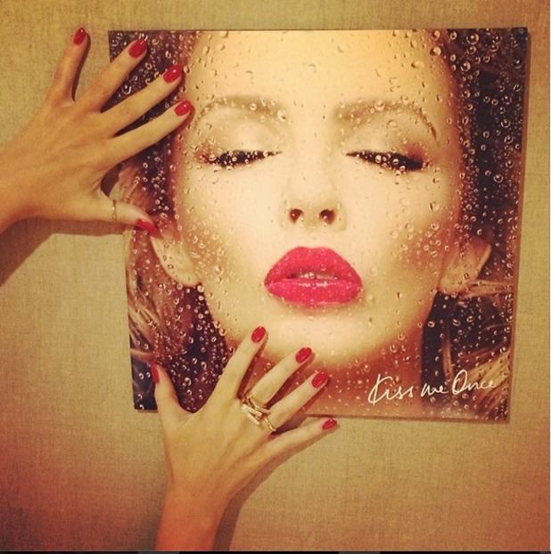 Vinyl cover of Kylie Minogue's new album Kiss Me Once