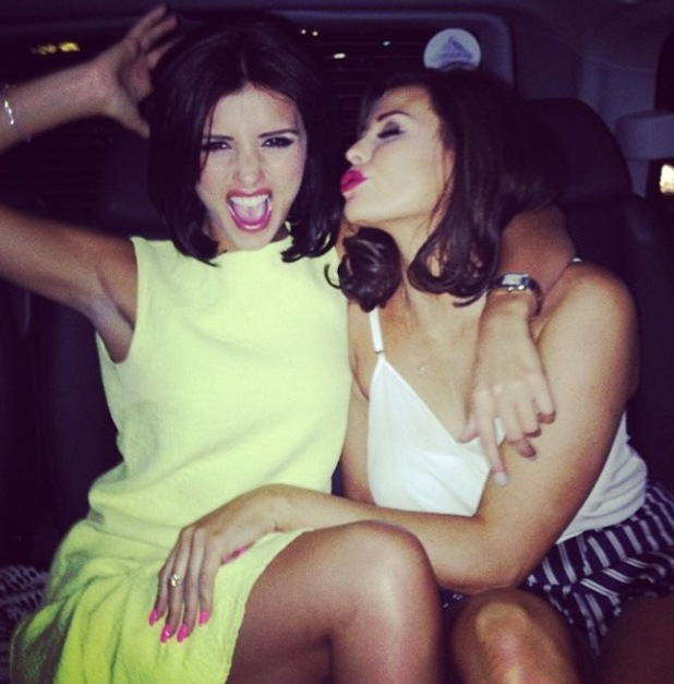 TOWIE's Jessica Wright parties with Lucy Mecklenburgh in London (8 March 2014).
