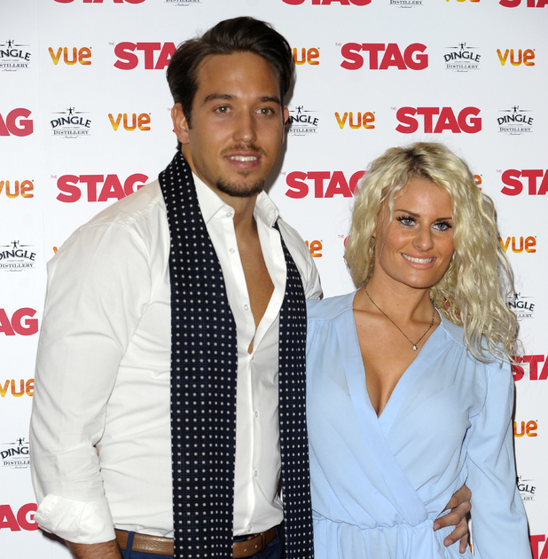 James Lock and Danielle Armstrong at 'The Stag' Gala screening at the Vue Leicester Square - 13 March 2014