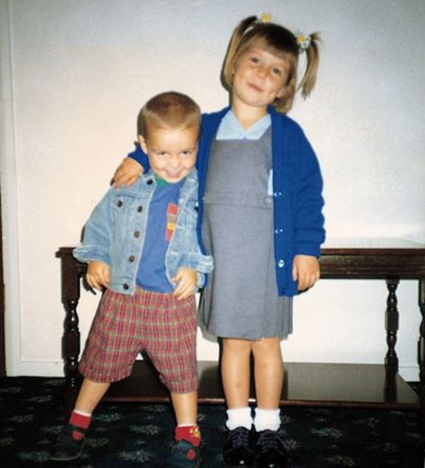 Coleen Rooney as a child with her brother - 13 March 2014