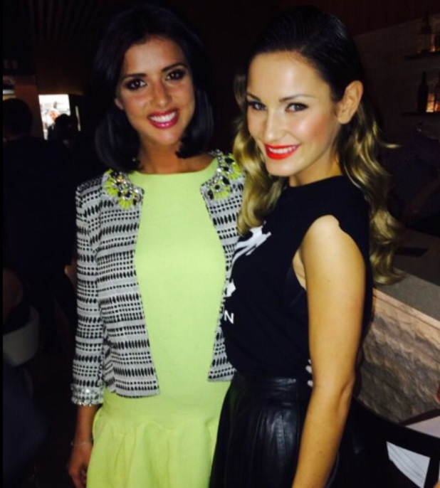 Sam Faiers and Lucy Mecklenburgh meet up on night out - 10 March 2014