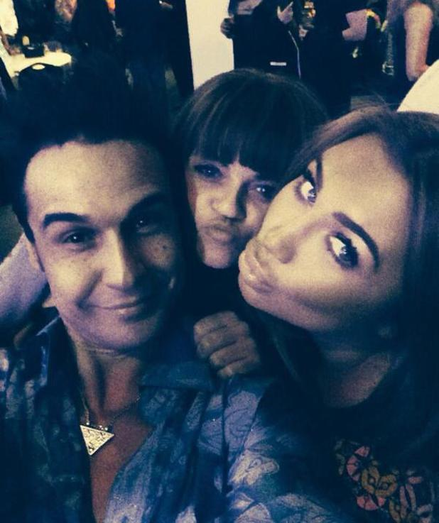 Lauren Goodger with Chico Slimani and Daniella Westbrook at Dancing On Ice's wrap party (9 March 2014).