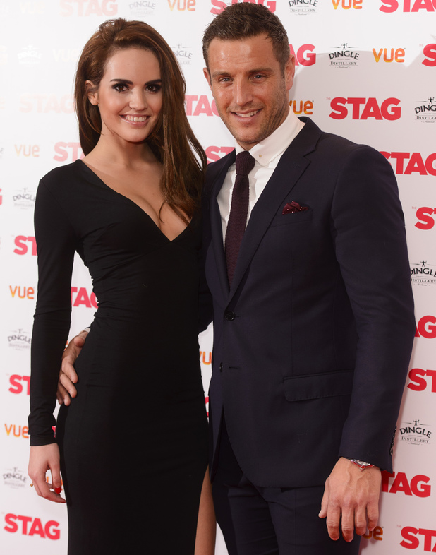 Elliott Wright and mystery woman at Gala screening of 'The Stag' at the Vue Leicester Square - 13 March 2014