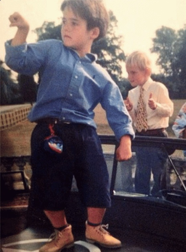 Jamie Laing shares throwback childhood photo with Made In Chelsea friend Spencer Matthews - 10.3.2014