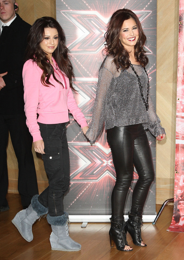 X Factor finalist photocall Cher Lloyd and Cheryl Cole. 12/09/2010.