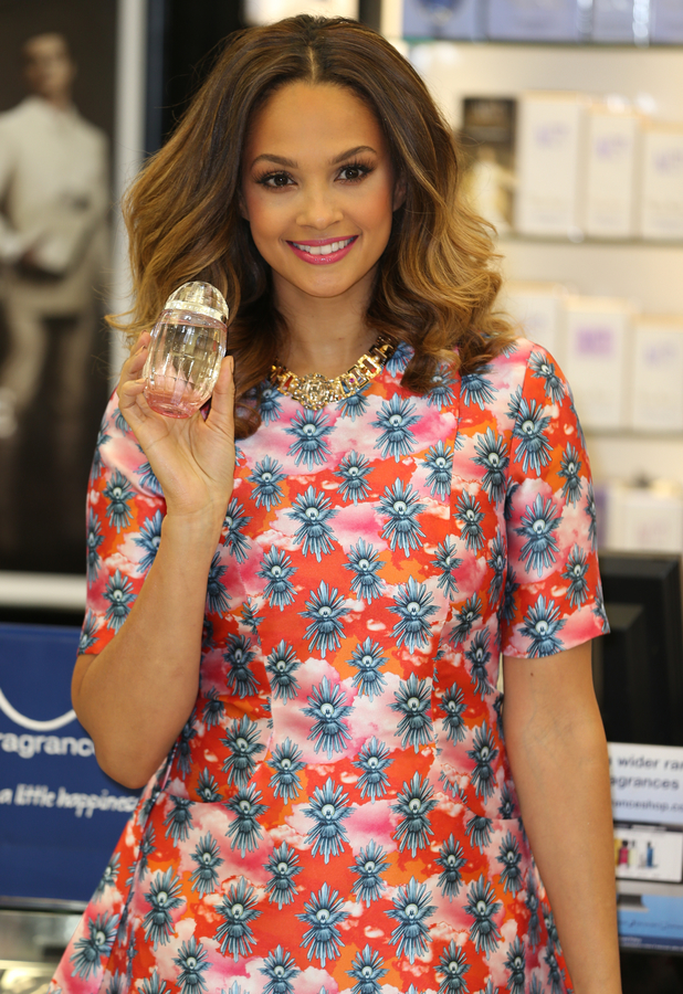 Alesha Dixon at the launch of her new perfume Rose Quartz, held at The Fragrance Shop in Westfield, London - 8 March 2014