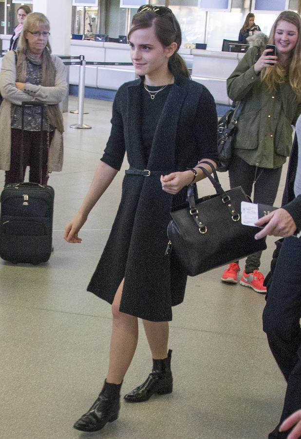 Emma Watson arrives at Berlin Tegel Airport after jetting in from London - 12 March 2014