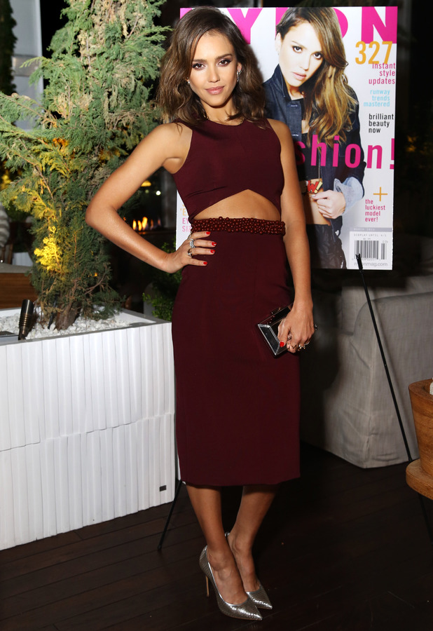 Jessica Alba attends the NYLON and Hudson Jeans March Issue Launch Party, Los Angeles, America - 10 March 2014