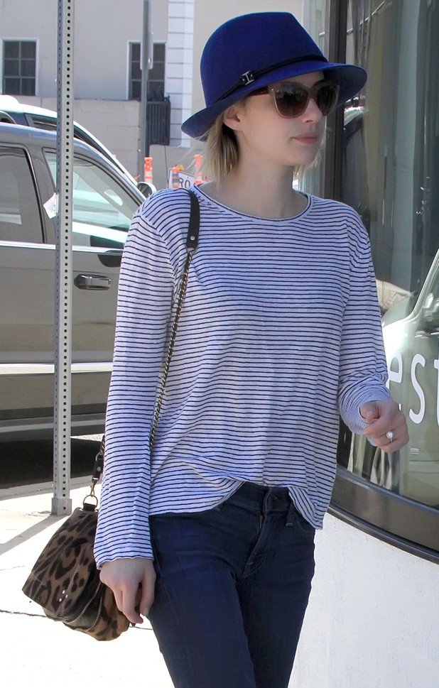 Emma Roberts out and about in West Hollywood, Los Angeles, America - 10 March 2014