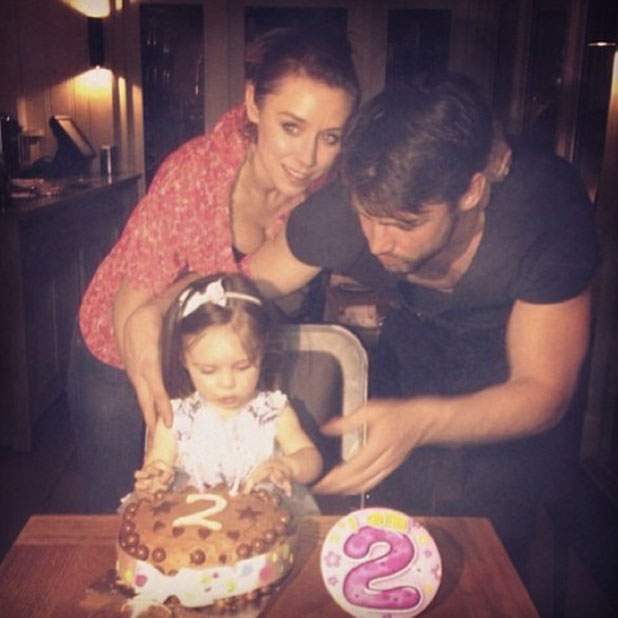 The Saturdays' Una Healy celebrates daughter Aoife Belle's second birthday, 13 March 2014