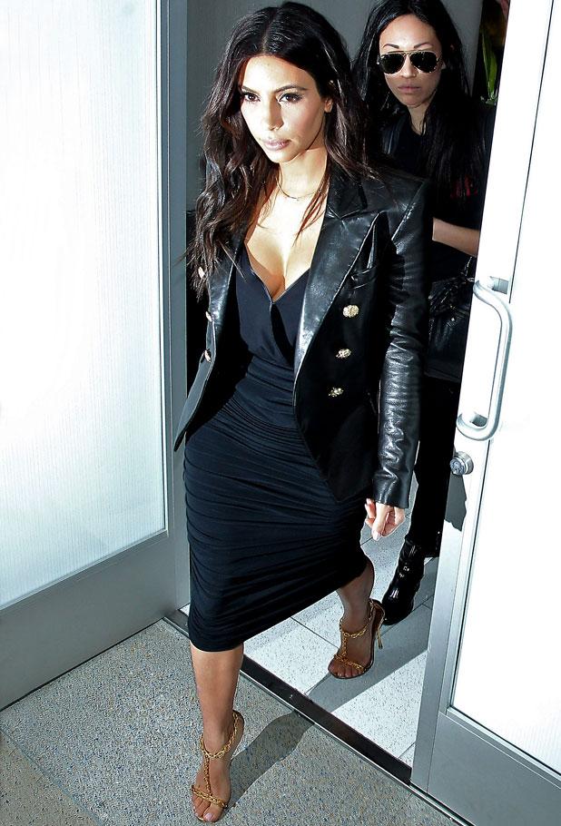 Kim Kardashian at LAX airport, Los Angeles, America - 11 Mar 2014