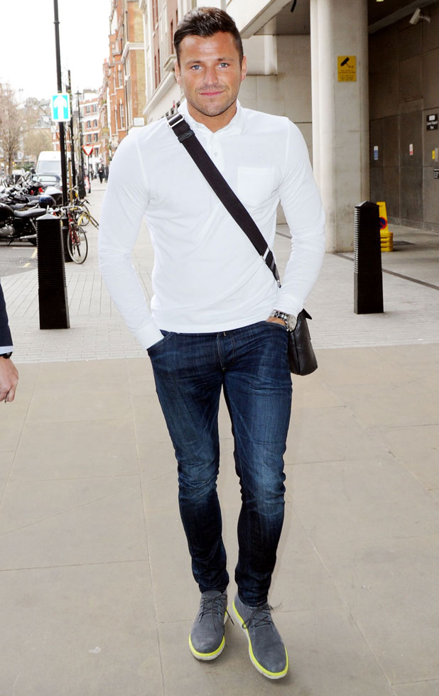 Mark Wright out and about, London, Britain - 10 Mar 2014