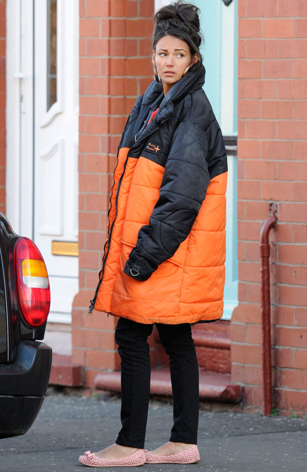 Michelle Keegan, 'Coronation Street' on set filming, Manchester, Britain - 10 Mar 2014