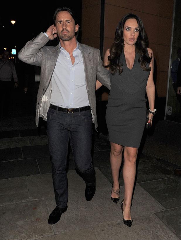 Tamara Ecclestone and husband Jay Rutland leaving Zuma restaurant in Knightsbridge, 11 March 2014