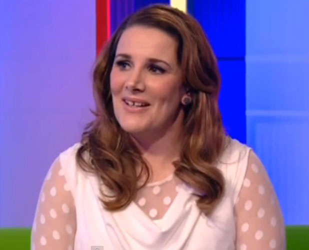 Sam Bailey appearing on The One Show, 7 March 2014