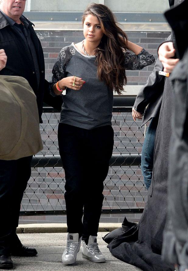Selena Gomez Films an Adidas Commercial in Soho, New York, America - 11 Mar 2014