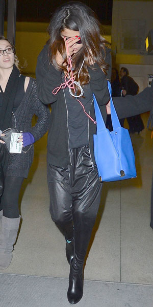 Selena Gomez at JFK airport, New York, America - 10 Mar 2014