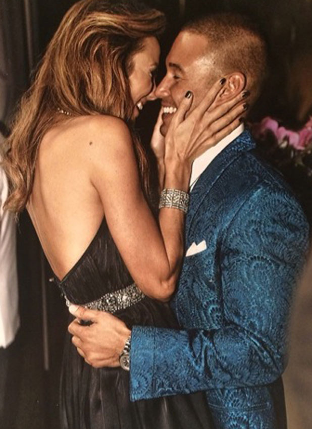 Stacy Keibler and Jared Pobre celebrate their first Valentine's Day, 14 February 2014