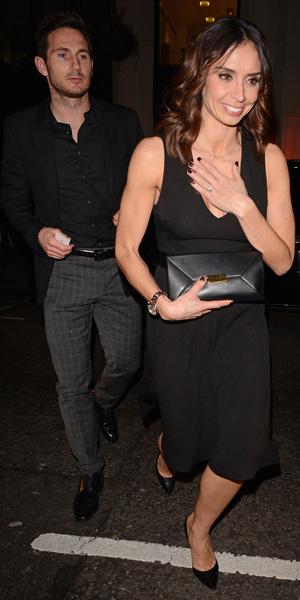 Christine Bleakley and Frank Lampard leave Hakkasan restaurant, London - 22 Mar 2014