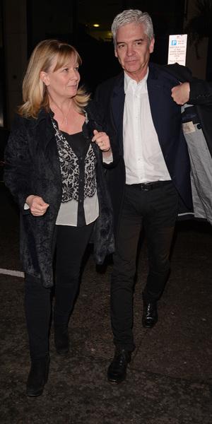 Philip Schofield and his wife leave Hakkasan restaurant, London - 22 Mar 2014