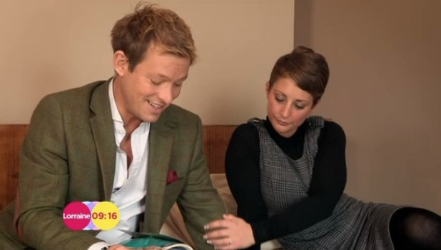 Adam Rickitt and Daybreak correspondent and fiancée Katy Fawcett - 17 March 2014
