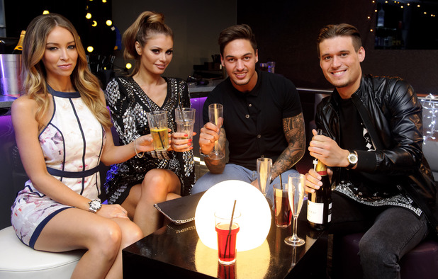 'The Only Way Is Essex' TV show production stills, Britain - 16 Mar 2014 Lauren Pope, Chloe Sims, Mario Falcone and Charlie Sims