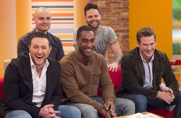 'Daybreak' TV Programme, London, Britain. - 21 Mar 2014 Five - Sean Conlon and Scott Robinson Blue - Antony Costa, Simon Webbe and Lee Ryan