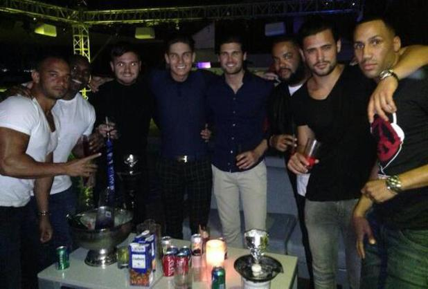 TOWIE's Joey Essex parties with 5th Story's Kenzie and friends in Dubai (19 March).