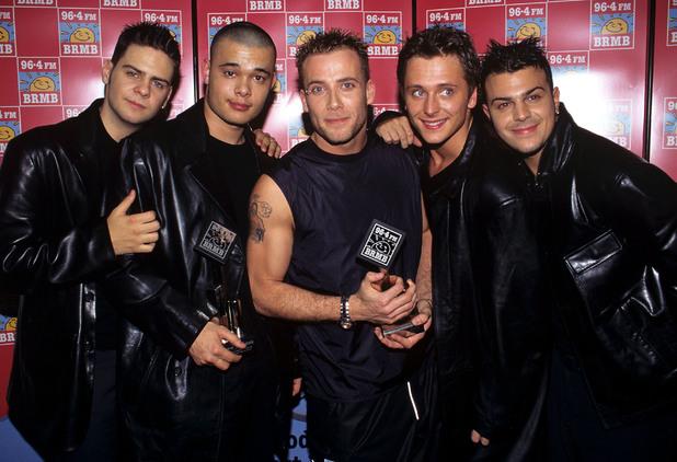 Five - Abz Love, Scott Robinson, Ritchie Neville, Sean Conlon, Jason 'J' Brown - in 2005.