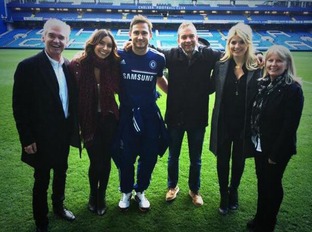 Phillip Schofield tweets picture from Chelsea football ground, 22 March 2014