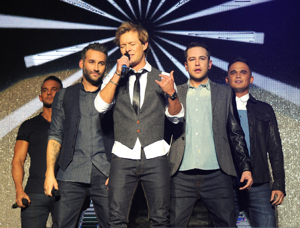 Big Reunion Concert, Hammersmith Apollo, London, Britain - 21 Feb 2014 5th Story - Kenzie, Dane Bowers, Adam Rickitt, Kavana and Gareth Gates