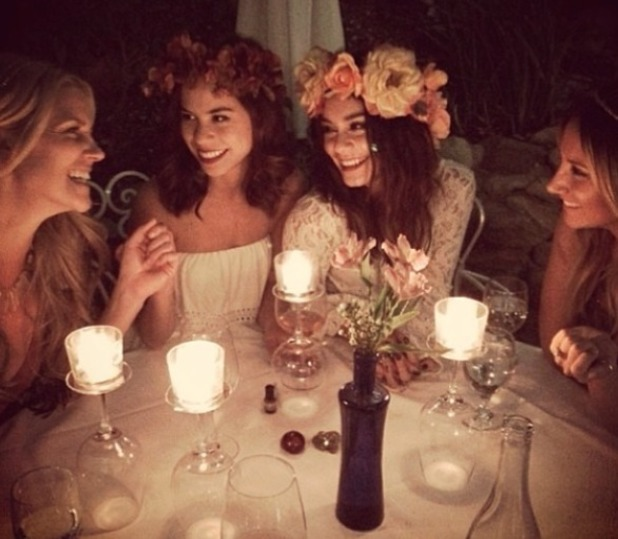 Vanessa Hudgens, Ashley Tisdale and friends have a 'happy fairies'  girls' night out, 18 March 2014