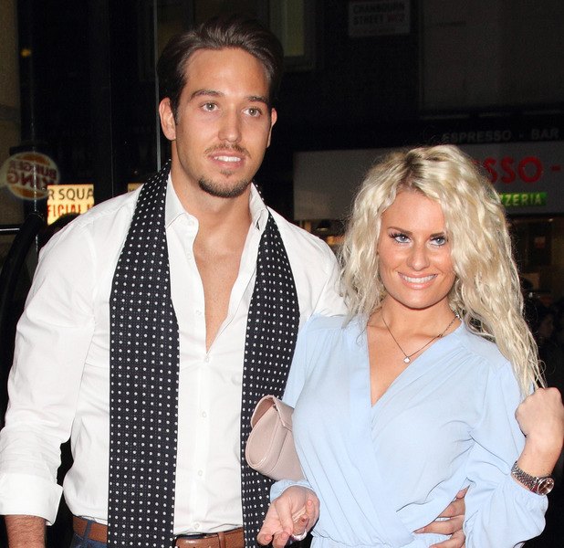 James Lock and Danielle Armstrong at the Gala screening of 'The Stag' at the Vue Leicester Square, London 03/13/2014 London, United Kingdom