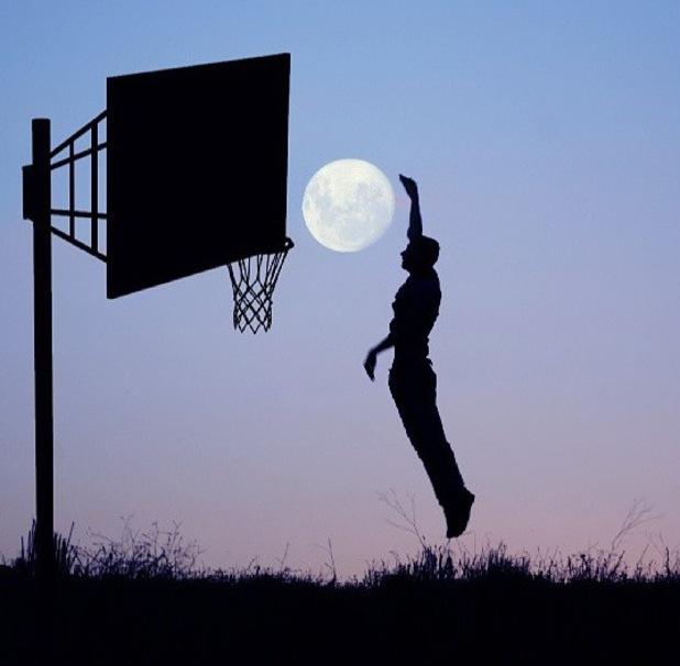 Man throwing moon