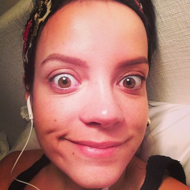 Lily Allen goes make-up free while in New York - 18 March 2014