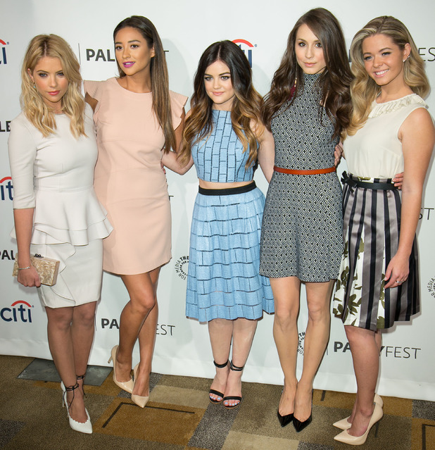 Pretty Little Liars' Ashley Benson, Shay Mitchell, Lucy Hale, Troian Bellisario and Sasha Pieterse at PaleyFest 2014 in Los Angeles - 16 March 2014