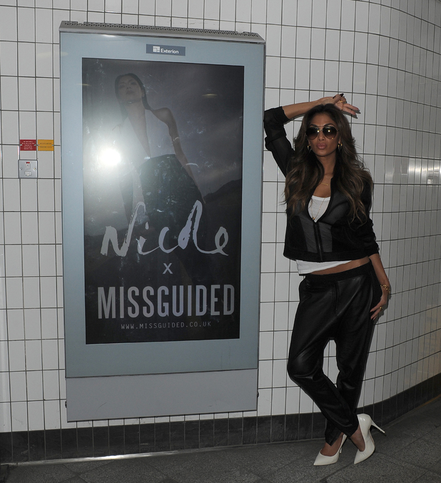 Nicole Scherzinger suprises commuters and tourists at Oxford Circus tube station - 17 March 2014