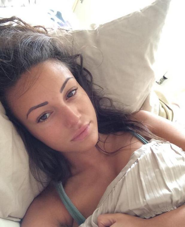 Michelle Keegan posts no make-up selfie in support of cancer charity, 22 March 2014