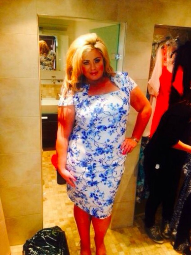 Gemma Collins posts a photo of a dress from her SS14 collection 18/03/14